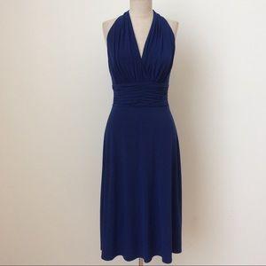 Cobalt Jersey Dress